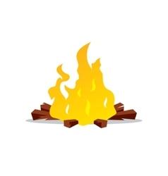 Bonfire Cartoon vector image
