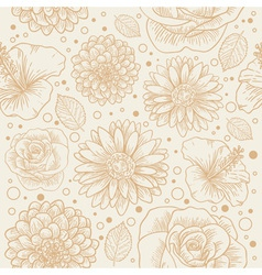 Floral seamless retro pattern vector image vector image