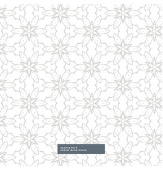 Beautiful abstract flower pattern in gray color vector