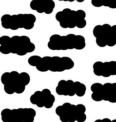 Pattern sky cloud black vector image vector image