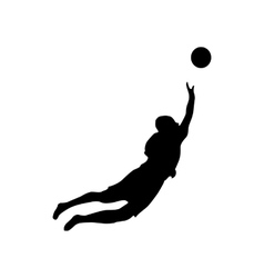Soccer goalkeeper silhouette vector image