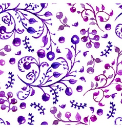 Watercolor natural seamless pattern vector image vector image