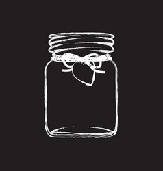 black and white jam jar vector image