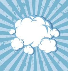 Clouds comic book background vector image vector image
