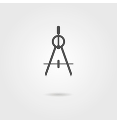 compasses icon with shadow vector image