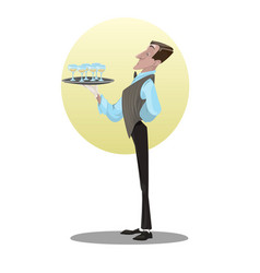 digital funny cartoon tall vector image