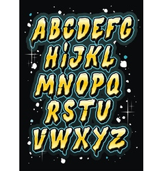 Hand drawn comics style letttering font alphabet vector image