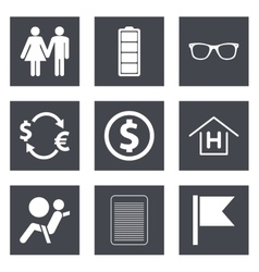 Icons for Web Design set 47 vector image vector image