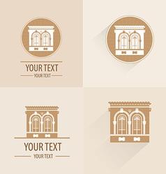 Vintage building for logo or symbol vector image