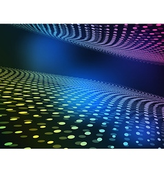 Abstract color wave halftone vector image