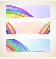 abstract design horizontal banners set vector image vector image