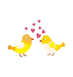 Couple of cute love birds nature sweet comic vector image