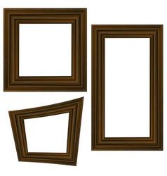 set of different wooden frames vector image