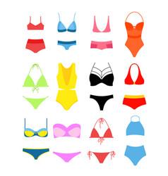 set of women s bikini for vector image vector image