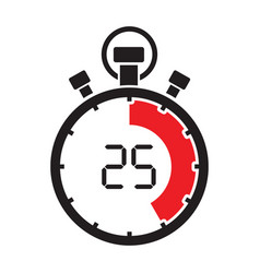 stopwatch twenty five minute vector image vector image