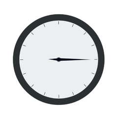 time clock isolated icon design vector image vector image