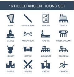16 ancient icons vector