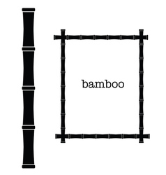 Bamboo frame black color art vector