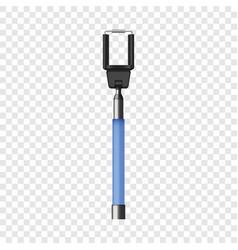 blue selfie stick mockup realistic style vector image
