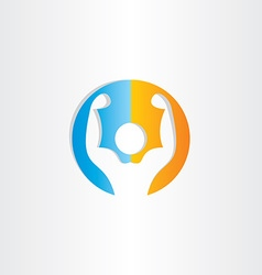 bodybuilder icon gym symbol vector image