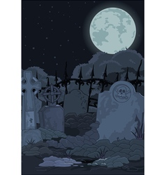 Cemetery vector image vector image
