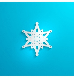 Christmas paper 3d snowflake with shadow vector