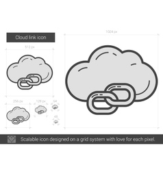 Cloud link line icon vector image