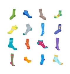 Colorful Fun Socks Set vector image