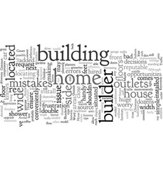 Common builder blunders and how to avoid them vector