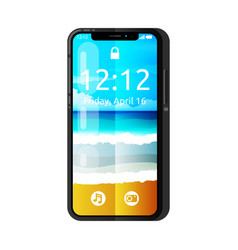 cute smartphone with notch display vector image