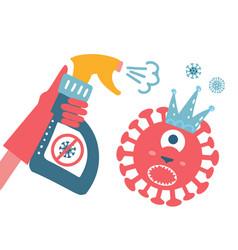 Disinfection coronavirus stop 2019-ncov hand in vector