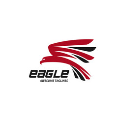 eagle fly vector image
