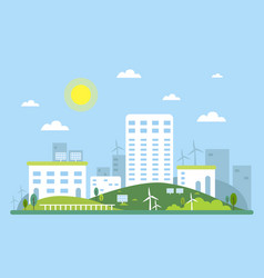 Ecosystem concept picture of urban landscape vector