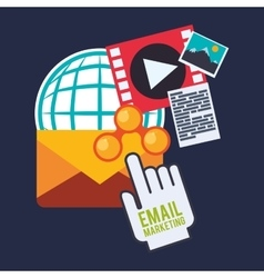 Email marketing and communication media design vector