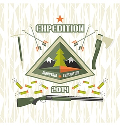 Expedition to the mountains vector