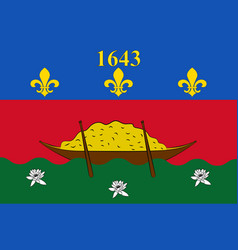flag of french guiana cayenne vector image