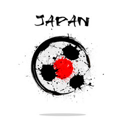 flag of japan as an abstract soccer ball vector image