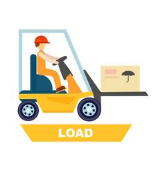 Forklift loading process concept vector