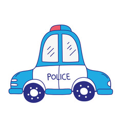 Full color emergency police car transport with vector