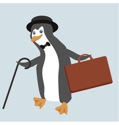 Funny penguin character vector