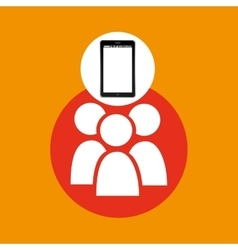 Group mobile phone navigation vector
