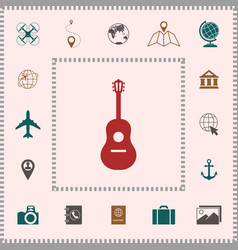 guitar icon symbol elements for your design vector image