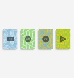 halftone shapes minimal geometric cover templates vector image