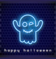 halloween neon banner vector image