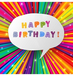 Happy birthday card colorful vector