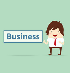 happy businessman with business content business vector image