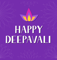 Happy deepavali lettering isolated on white vector