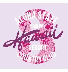 Hawaii country club vector image