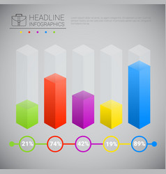 headline infographic chart bars design business vector image