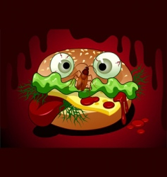 horrible meal vector image